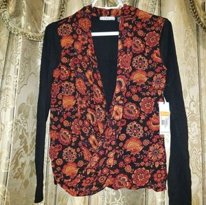 Dex Floral & black shirt